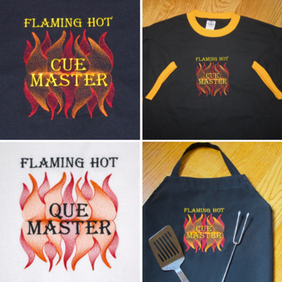 Bbq Grill Flame Man S Cookout Barbeque Embroidery Design