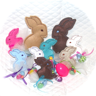 Bunny in the hoop softie embroidery treat gifts for easter bunny in the hoop treat softies negle Images