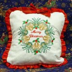 Ornate Christmas Wreath 6X8