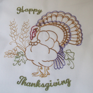 HAPPY THANKSGIVING TURKEY 5x7