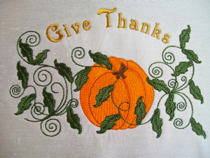 Give Thanks Pumpkin 5x7