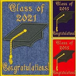 Graduation Gift Card Keepsake Applique5X7