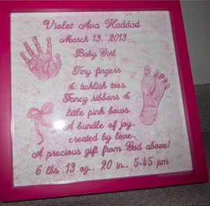 PERSONALIZED BABY GIRL BIRTH ANNOUNCEMENT & POEM