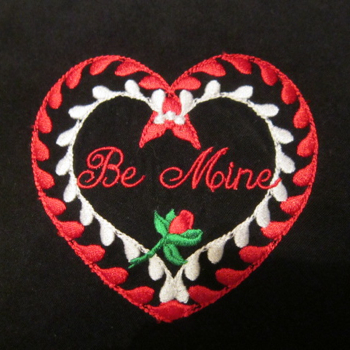 BE MINE ROSE HEART 4X4