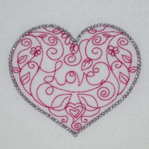 REDWORK HEART GIFT 4X4