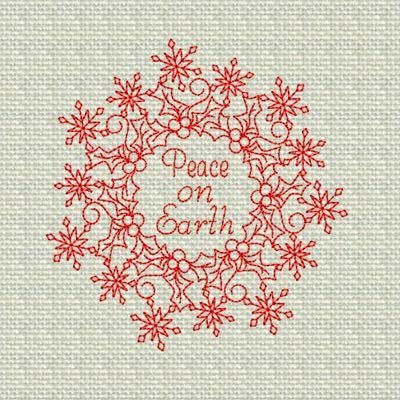 Peace on Earth Christmas Wreath