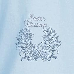 Easter Blessing Floral Redwork