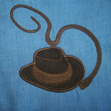 Indiana Jones Style Western hat and whip 4x4
