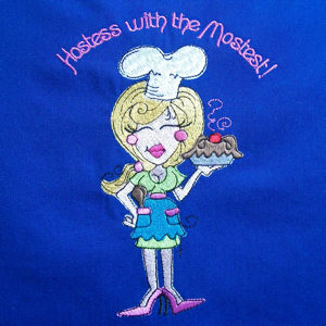 Kitchen Baker Hostess Gift Embroidery Designs