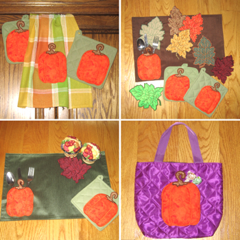 Thanksgiving Fall pumpkin applique embroidery in the hoop pocket designs 3-D