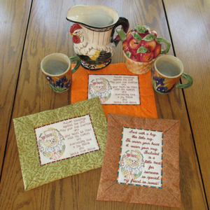 Autumn Coffee Cozy Mug Rugs Mini Set