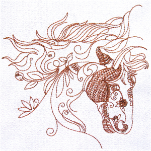 ORNAMENTAL HORSE 3 5X7