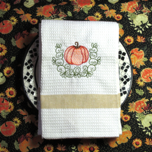 PUMPKIN GUEST PATCH APPLIQUE 5x7