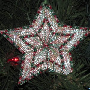 MYLAR STAR ORNAMENTS 4X4