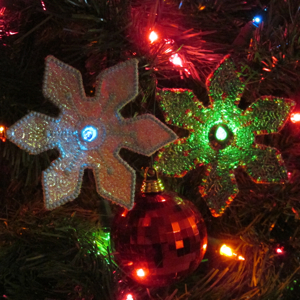 Mylar Snowflake Lights 4X4
