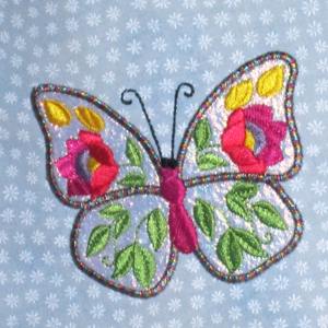 FLORAL BUTTERFLY 1  4X4