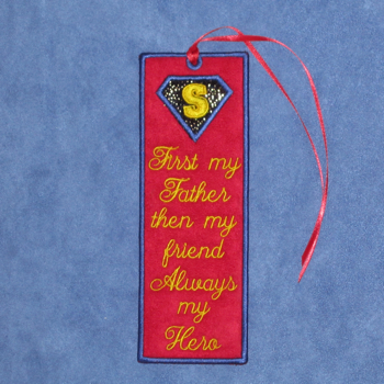 FATHER'S DAY HERO BOOKMARK FROM SON 5X7