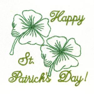 HAPPY ST. PATRICK'S DAY REDWORK 4X4