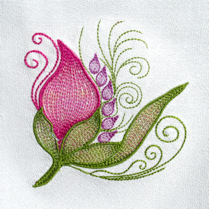 MYLAR FLORAL BUD FANTASY  Mini Set 4x4