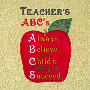TEACHER'S ABC'S  5X7
