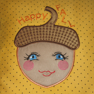 HAPPY AUTUMN ACORN APPLIQUE' 5X7