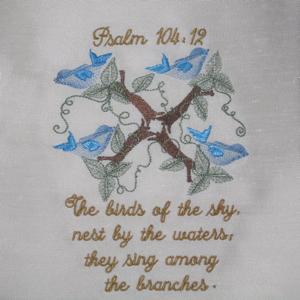 Psalm 104 12 5x7