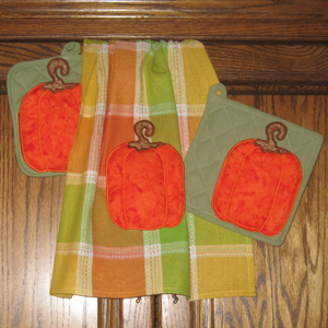 3-D PUMPKIN POCKETS APPLIQUE 5X7