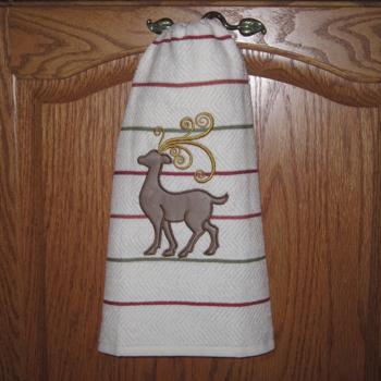 Christmas Reindeer Applique 1 5X7