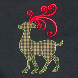Christmas Reindeer Applique 1 5X7