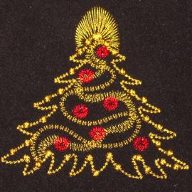 GOLDEN CHRISTMAS TREE ORNAMENTAL 4X4