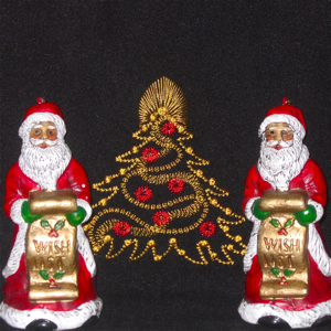 GOLDEN CHRISTMAS TREE ORNAMENTAL 4X4