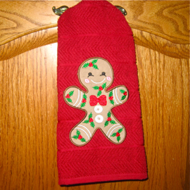 gingerbread embroidery applique design