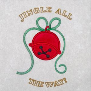 JINGLE BELLS APPLIQUE' 5X7