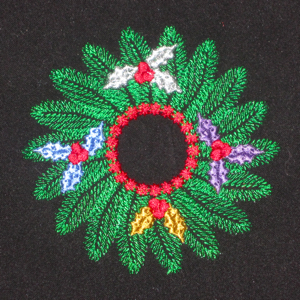 CHRISTMAS HOLLY WREATH 4X4
