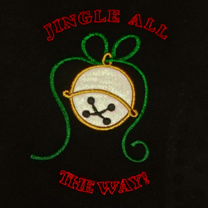 JINGLE BELLS APPLIQUE' 5X7