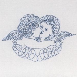 ANGELS EMBRACE VINTAGE CHERUBS 5X7