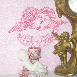 ANGELS EMBRACE VINTAGE CHERUBS 5X7