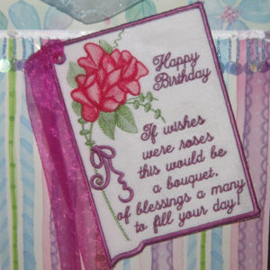 BIRTHDAY CARD  IF ROSES WERE WISHES