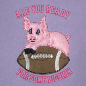 FOOTBALL  ARE YOU READY FOR SOME PIGSKIN 5X7