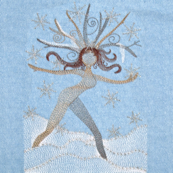NATURE'S WINTER NYMPH 5X7