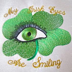 Irish Eyes St Patrick S Day Embroidery Design