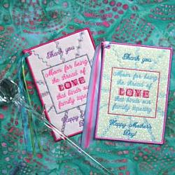 HAPPY MOTHER'S DAY THREADS OF LOVE CARD 5X7