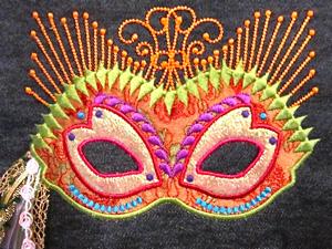 Mardi Gras / Oriental Style Mask 5X7