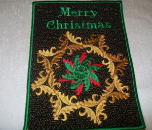 MERRY CHRISTMAS MUG RUG or APPLIQUE 5x7