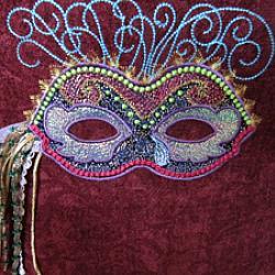 Mardi Gras Mask 1 5X7