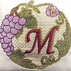 Luscious Grapes Monogram M and Gift Tag