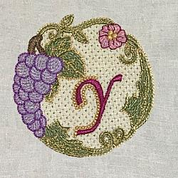Luscious Grapes Monogram Y and Gift Tag