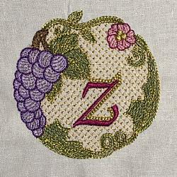 Luscious Grapes Monogram Z and Gift Tag