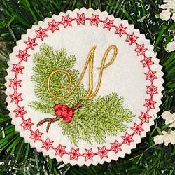 Pine Bough Alphabet and Ornament N
