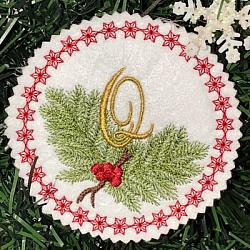 Pine Bough Alphabet and Ornament Q